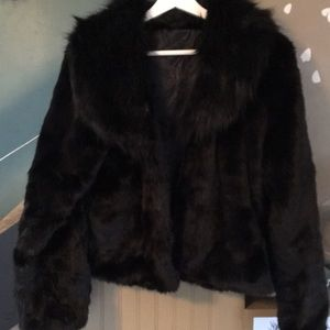 Jackets & Blazers - Beautiful fur FUSHI shawl neck coat